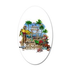 beachshack8b.png 22x14 Oval Wall Peel