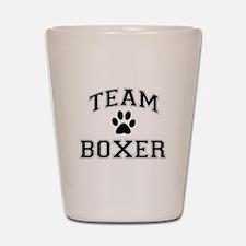 Team Boxer Shot Glass