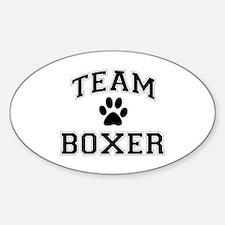Team Boxer Sticker (Oval)