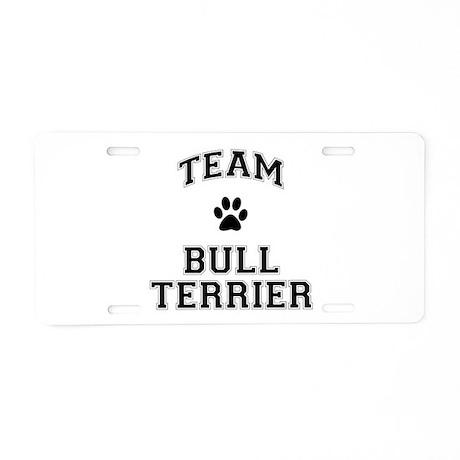 Team Bull Terrier Aluminum License Plate