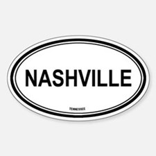 Nashville (Tennessee) Oval Decal