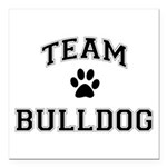 Team Bulldog Square Car Magnet 3