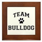 Team Bulldog Framed Tile