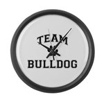 Team Bulldog Large Wall Clock