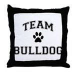 Team Bulldog Throw Pillow