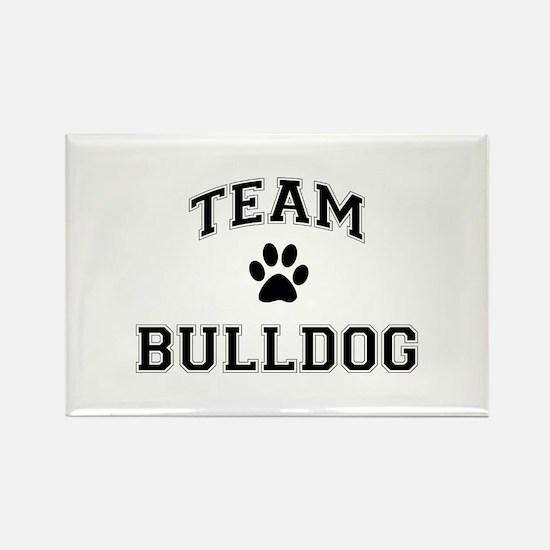Team Bulldog Rectangle Magnet