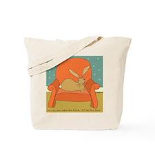 Armchair rabbit Tote Bag