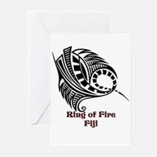 Ring of Fire Manta Ray Greeting Cards (Pk of 10)