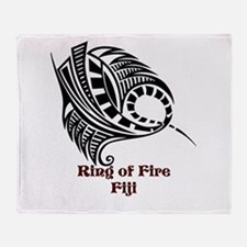 Ring of Fire Manta Ray Throw Blanket