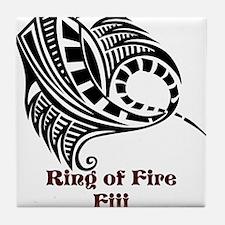 Ring of Fire Manta Ray Tile Coaster