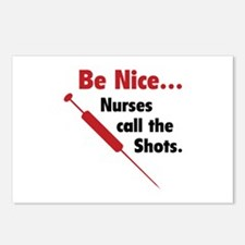 Be Nice ... Nurses Call The Shots Postcards (Packa