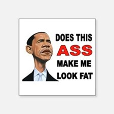 "FAT BARACK Square Sticker 3"" x 3"""