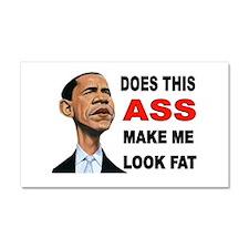 FAT BARACK Car Magnet 20 x 12