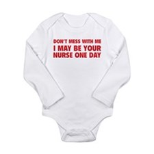 Don't Mess With Me Long Sleeve Infant Bodysuit