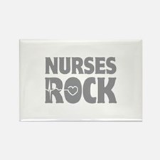 Nurses Rock Rectangle Magnet