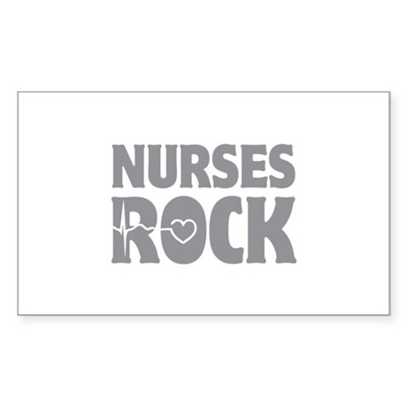 Nurses Rock Sticker (Rectangle)