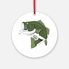 Largemouth Bass Ornament (Round)