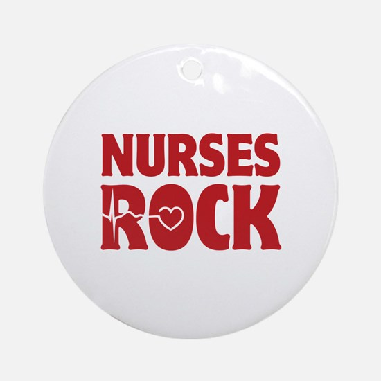 Nurses Rock Ornament (Round)