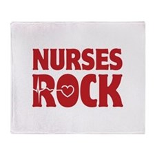 Nurses Rock Throw Blanket