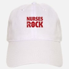 Nurses Rock Baseball Baseball Cap