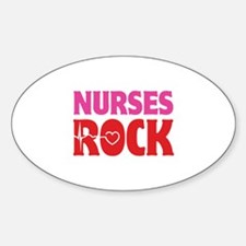 Nurses Rock Sticker (Oval)