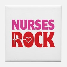 Nurses Rock Tile Coaster