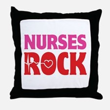 Nurses Rock Throw Pillow