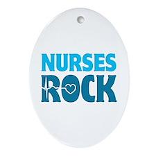 Nurses Rock Ornament (Oval)