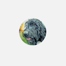 Black Labradoodle 5 Mini Button