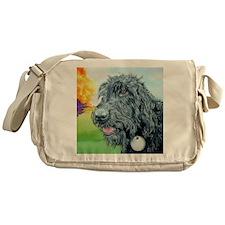 Black Labradoodle 5 Messenger Bag