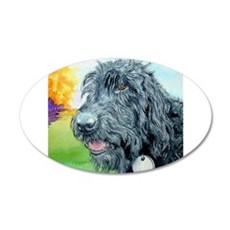 Black Labradoodle 5 Wall Decal
