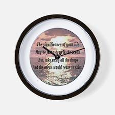 A drop in the ocean Wall Clock