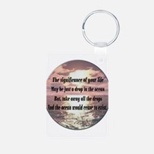 A drop in the ocean Keychains
