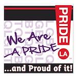 LGBTQ Square Car Magnet 3
