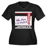 LGBTQ Women's Plus Size V-Neck Dark T-Shirt