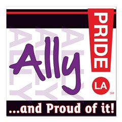 ALLY Square Car Magnet 3