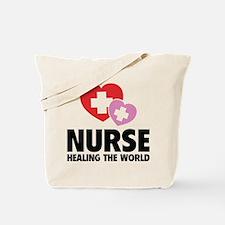 Nurse - Healing The World Tote Bag