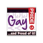 GAY Square Sticker 3