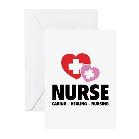 Nurse - Caring Healing Nursing Greeting Cards (Pk