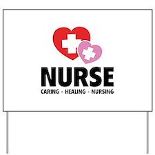 Nurse - Caring Healing Nursing Yard Sign