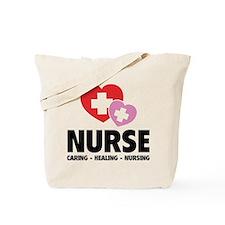 Nurse - Caring Healing Nursing Tote Bag