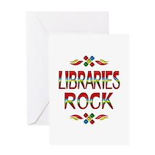 Libraries Rock Greeting Card