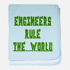 Engineers Rule the World baby blanket