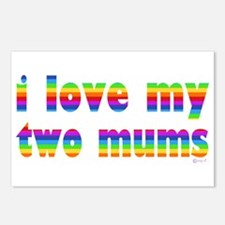 i love my two mums rainbow Postcards (Package of 8