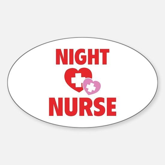 Night Nurse Sticker (Oval)