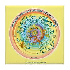 ACIM Keepsake Tile Coaster - Miracles honor you