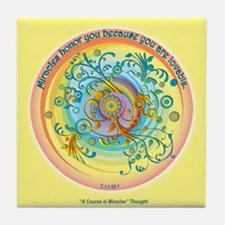 ACIM Keepsake Tile Coaster - Miracles honor you