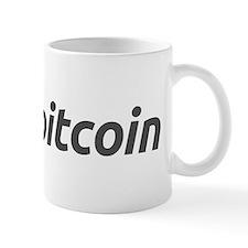 Mug with the bitcoin logo and name