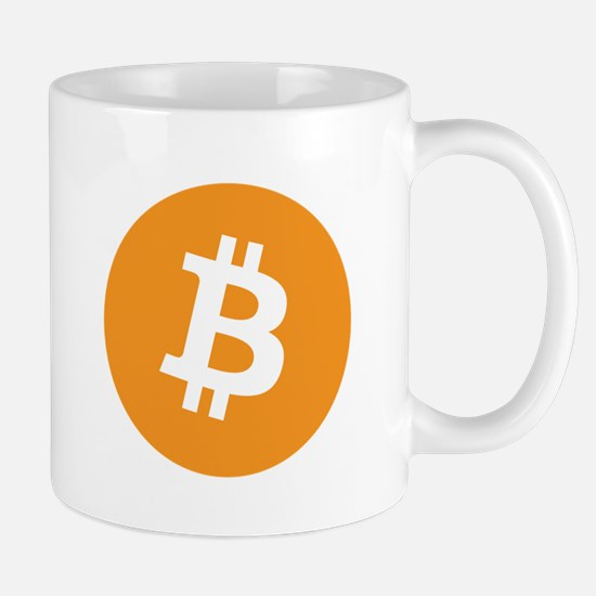 Mug with the bitcoin logo