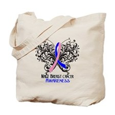 Butterfly Male Breast Cancer Tote Bag